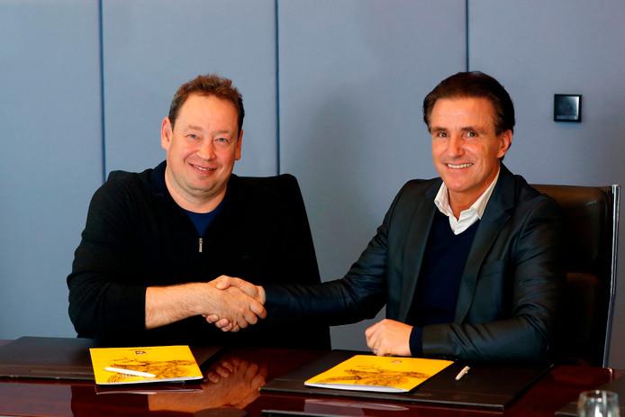 Leonid Sloetski  (links) gaat doorgaans een maand op trainingskamp, maar bij Vitesse wordt die traditie ingekort tot twee weken.