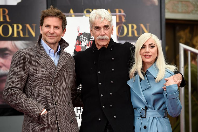 Vlnr: Bradley Cooper, Sam Elliott en Lady Gaga