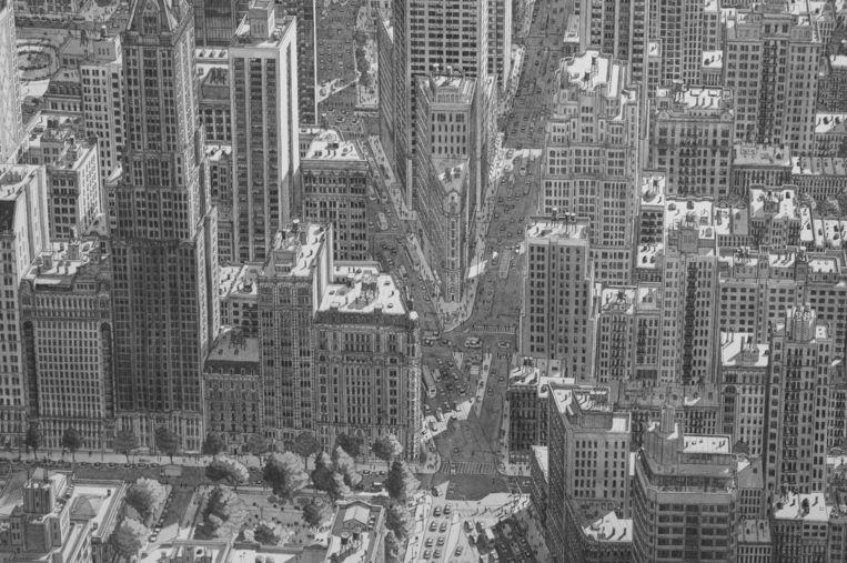 Manhattan, 80 x 115 centimeter, vervaardigd in 2016. Beeld Stefan Bleekrode