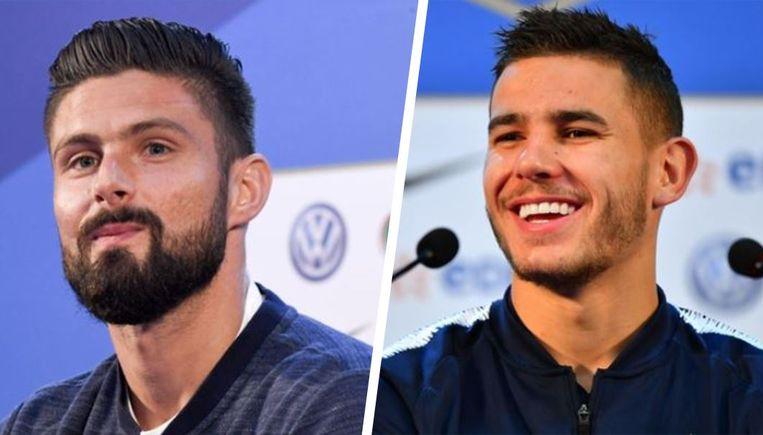Links: Giroud. Rechts: Hernandez.