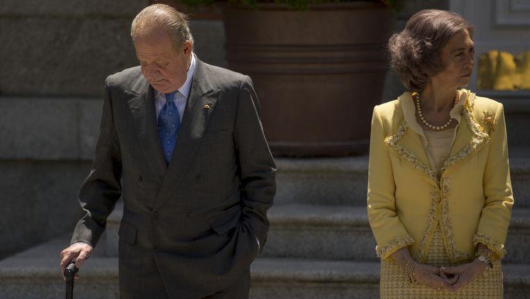 Koning Juan Carlos en koningin Sofia. Beeld ap