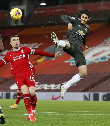 Koploper ManUnited laat verzwakt Liverpool met de schrik vrijkomen