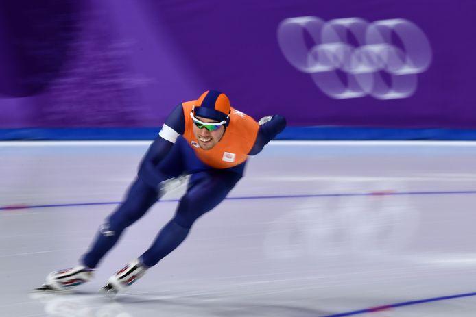 Patrick Roest tijdens zijn 1500 meter.