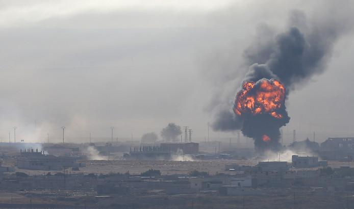 Vanochtend was een explosie te zien in de Syrische plaats Ras al-Ain.