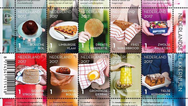 De Amsterdamse ui heeft een plek gekregen in de serie postzegels. Beeld PostNL