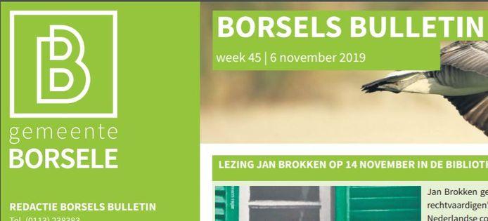 Het Borsels Bulletin is ook te vinden op de site van de gemeente.