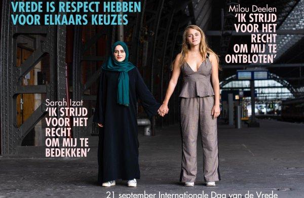 Strijders voor bloot en bedekt slaan de handen ineen op Dag van de Vrede