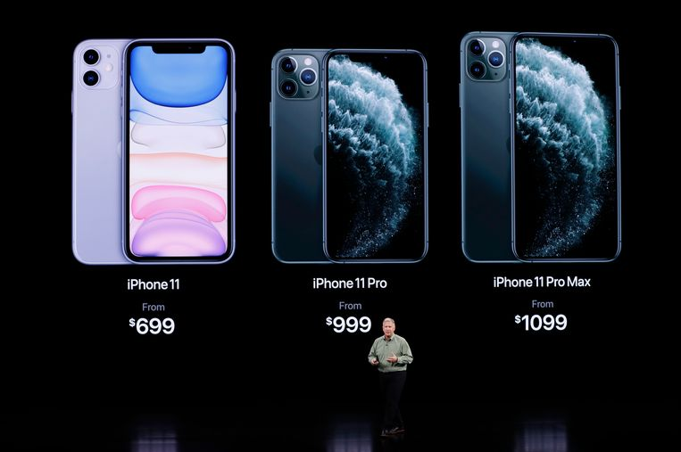 De iPhone 11, iPhone 11 Pro en de iPhone 11 Pro Max.