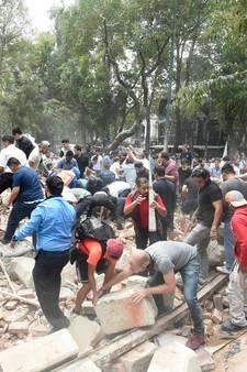Dodental zware aardbeving Mexico loopt snel op