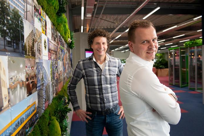 Bart Wopereis (rechts) en Bas Hommelink , eigenaren van BINX Smartility.