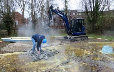 Renovatie zwembad Terheijden begonnen met sloop peuterbad