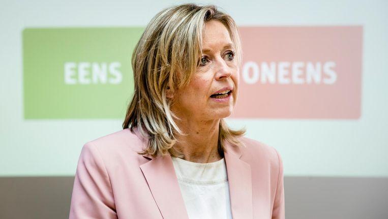 Minister van Binnenlandse Zaken Kajsa Ollongren verdedigt de invoering van de wiv. Beeld ANP