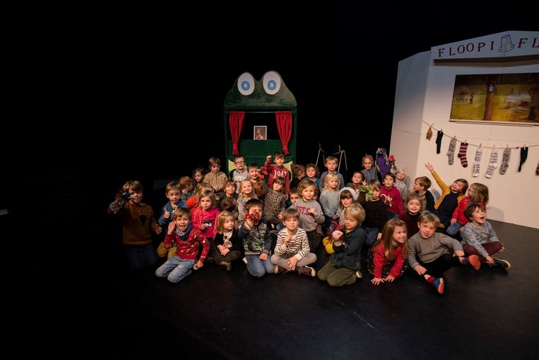 Floopi & Flippa speelden hun voorstelling 'De Muziekdoos' in Freneitschool.