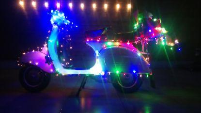 100 Vespa's met kerstverlichting rijden zaterdag door Oostende