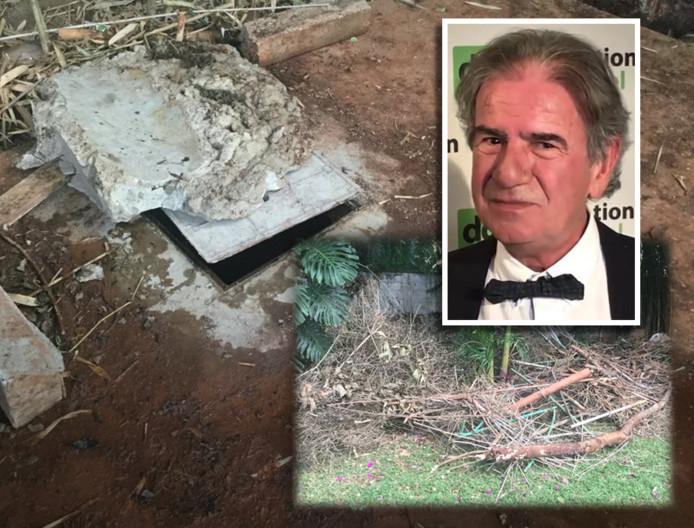 Cohens lichaam werd vrijdag gevonden in een lege watertank in de tuin van zijn villa.