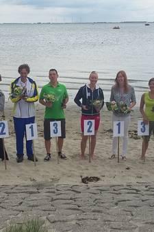 Winnend een-tweetje Simone de Rijcke en Wietse Beerens