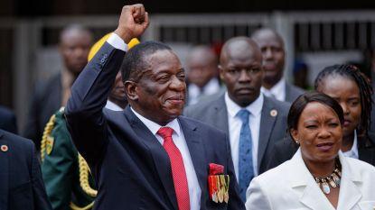 Emmerson Mnangagwa (75) nu ook officieel president Zimbabwe