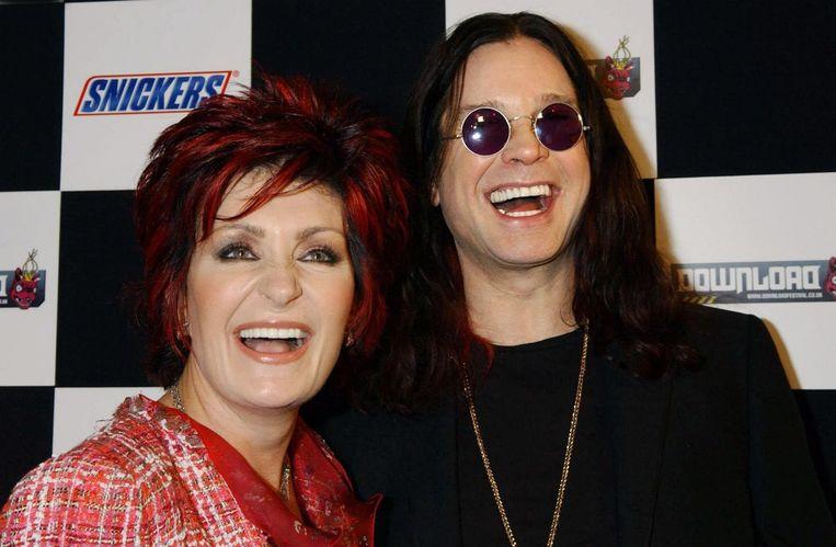 Sharon Osbourne met haar echtgenoot Ozzy