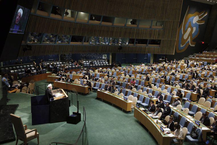 Rouhani geeft een speech. Beeld ap
