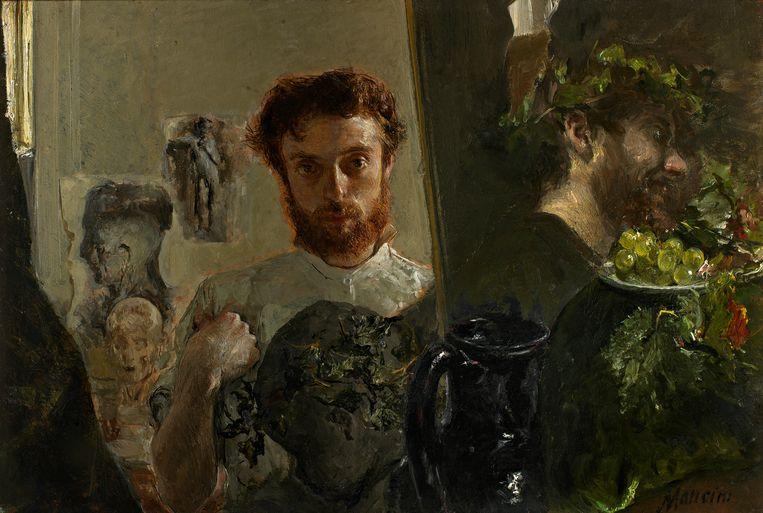 Zelfportret van Antonio Mancini, (1852-1930).  Beeld Galleria D'Arte Moderna Firenze