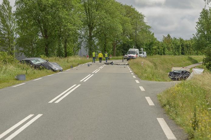 Ongeluk Oud Vossemeersedijk in Tholen.