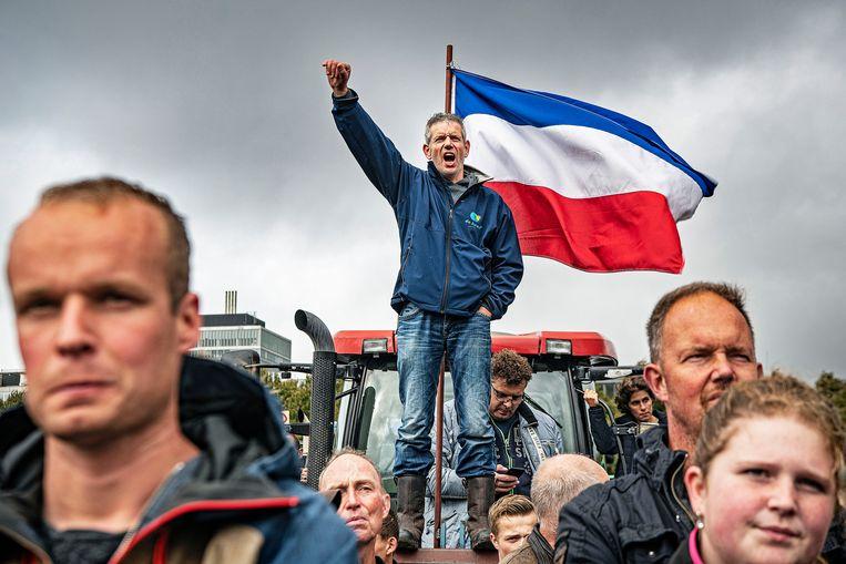 Boeren demonstreren massaal op het Maliveld.  Beeld Guus Dubbelman / de Volkskrant