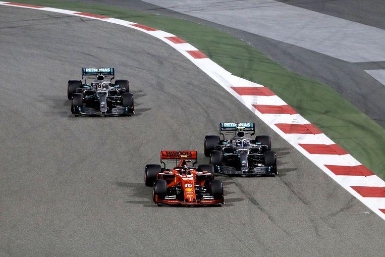 Leclerc moest alsnog zijn meerdere erkennen in de twee Mercedessen.