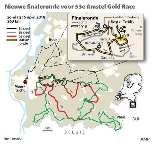 De nieuwe finaleronde voor 53e Amstel Gold Race.