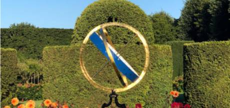Zonnewijzer na 20 jaar terug in tuin van Kasteel Amerongen