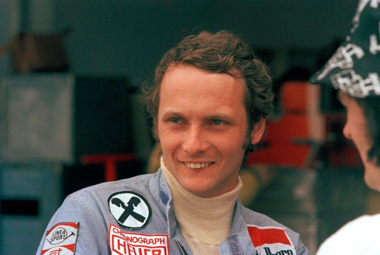 Een foto uit 1975, op de GP in het Argentijnse Buenos Aires.