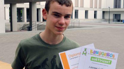 Laurens Ledeganck (13) is primus van Sint Aloysius Geel