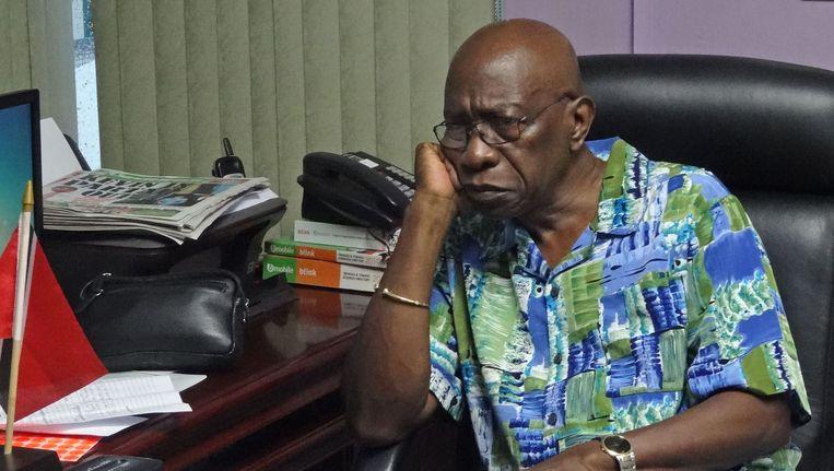 Jack Warner in zijn kantoor Beeld anp
