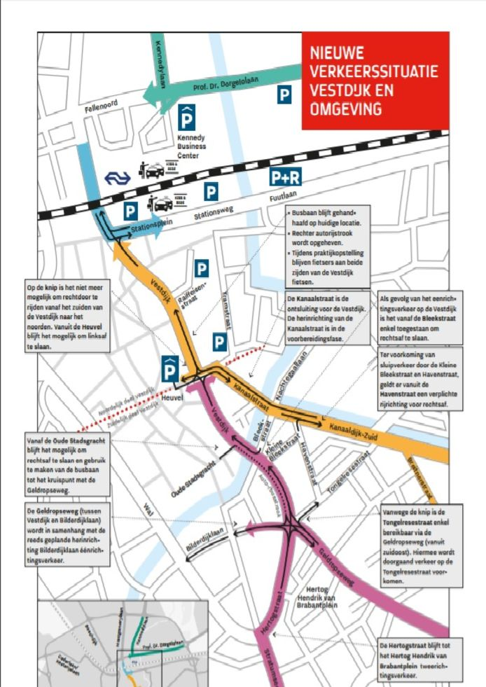 Alle maatregelen op en rond de Vestdijk in Eindhoven.