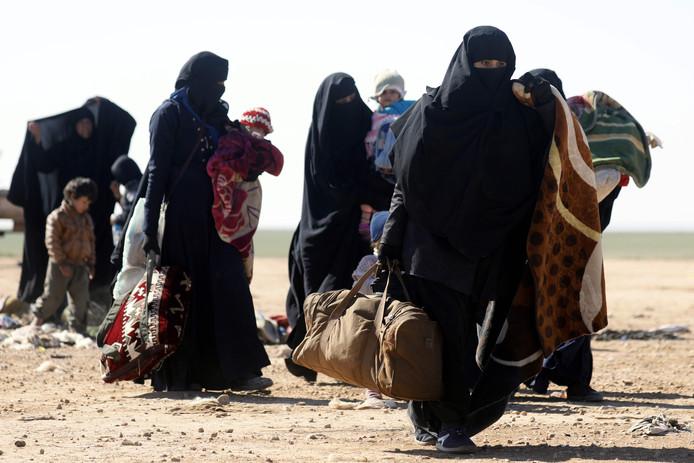 Vluchtende Syrische burgers.