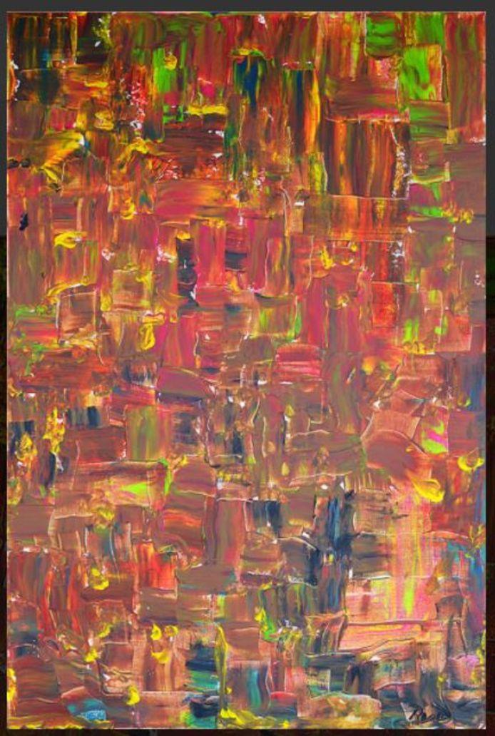 Een schilderij van Rob van Daal.