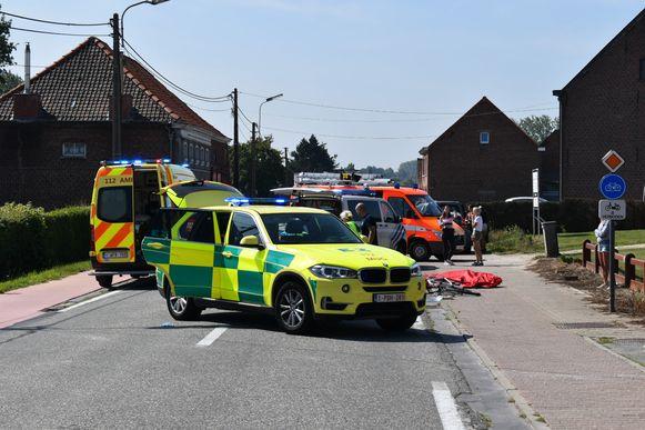 Fietser sterft bij aanrijding in Sint-Lievens-Houtem.