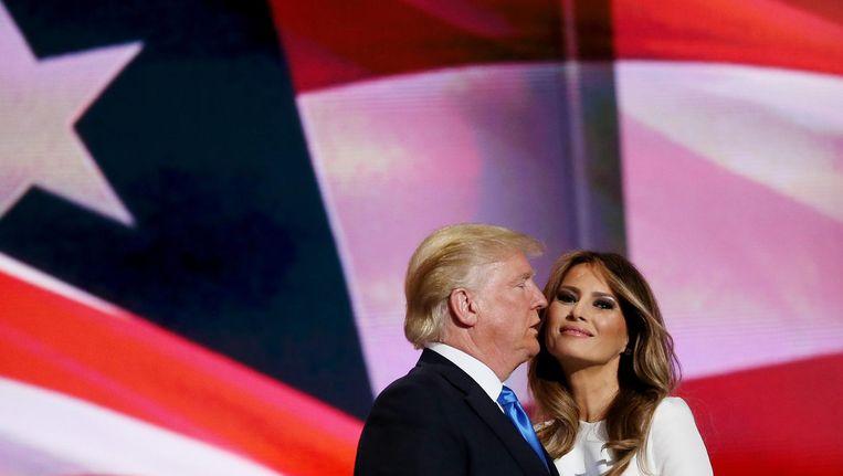 Donald en Melania Trump. Beeld null
