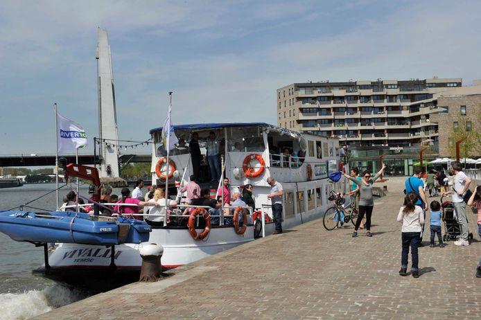 De Waterbus vetrekt vanaf 1 mei op de Steenkaai in Vilvoorde richting Brussel.