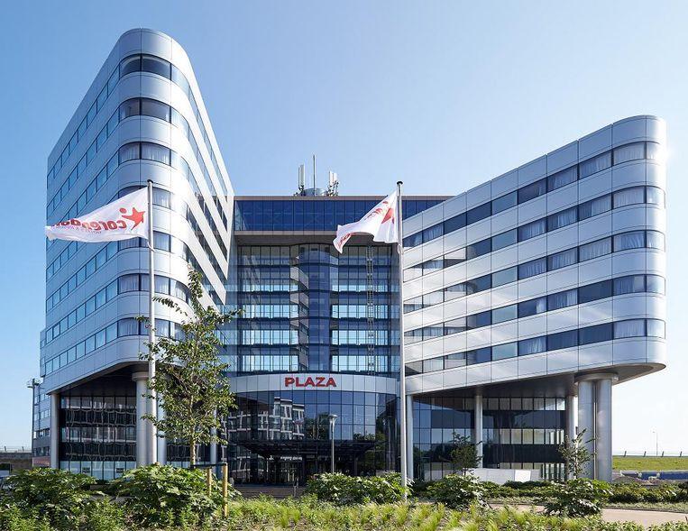Corendon Village, het 'resort' dat het bedrijf onlangs opende in en om de voormalige Sonytoren bij Badhoevedorp. Beeld Corendon