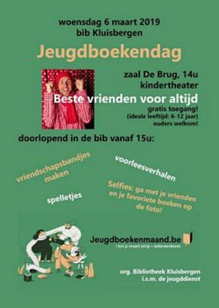 De bibliotheek en de jeugddienst van Kluisbergen organiseren een Jeugdboekendag in De Brug en de bib.