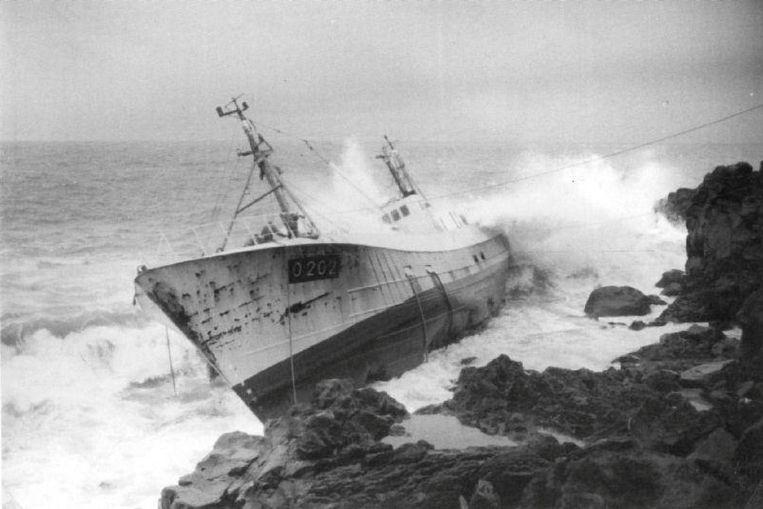 Op 21 januari 1982 liep vissersboot O.202 Pelagus op de klippen in IJsland.