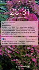 NL-Alert afgegeven.