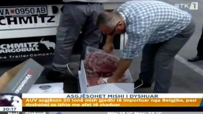 "1,2 ton vervallen vlees naar Kosovo: ""Ongelukje"""