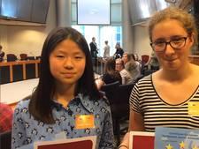 Yun (15) is ambassadeur van het Europees Parlement