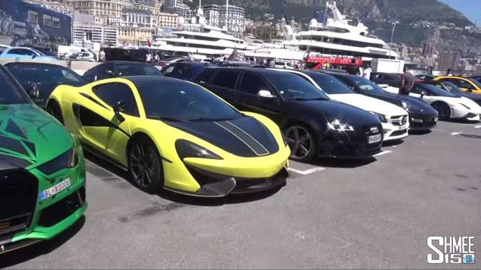 In beslag genomen supersportwagens in Monaco