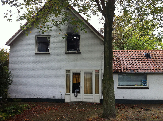 Huis aan De Bleeck na de brand