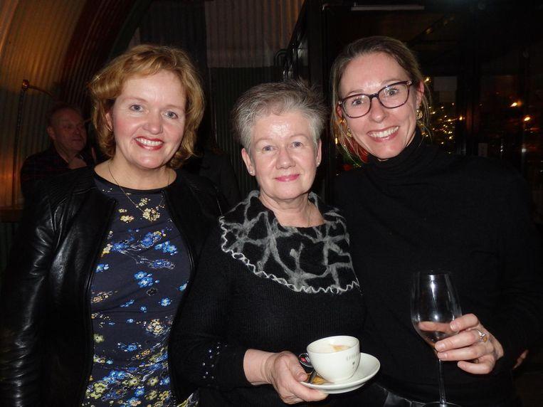 Uit de top van Audax Publishing: Anja Horvers, Hannie van Vuft en Heleen Brouwer (vlnr) Beeld Schuim