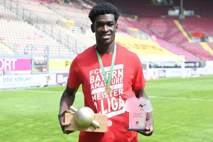 De nieuwe spits van Willem II, Kwasi Wriedt, werd topscorer van de derde Bundesliga en verkozen tot beste speler van de competitie.