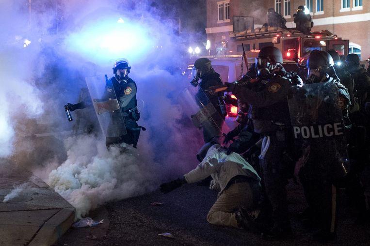 Demonstraties in Ferguson. Beeld epa
