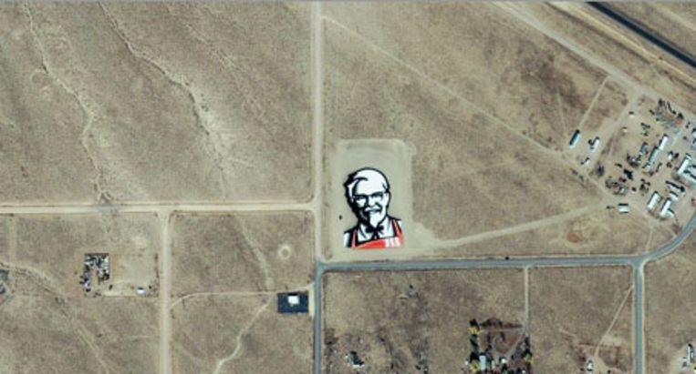 Het logo van KFC was in 2006 vanuit de ruimte zichtbaar.